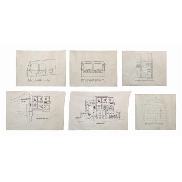 Set of (6) Toon Town Express Concept Drawings.