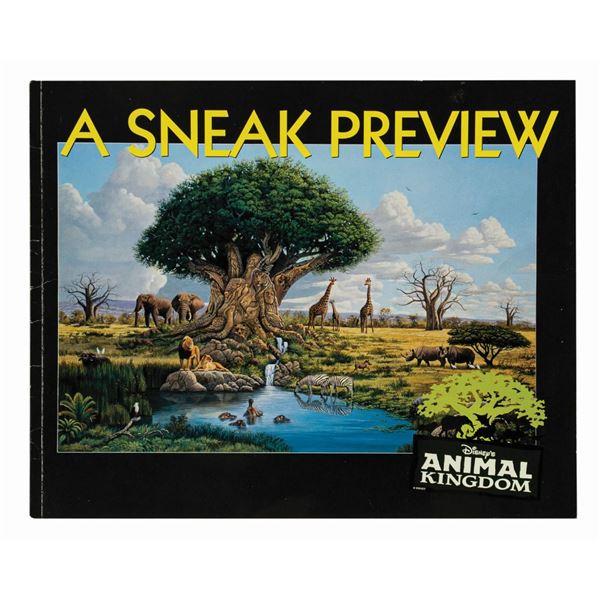 Disney's Animal Kingdom: A Sneak Preview Guidebook.