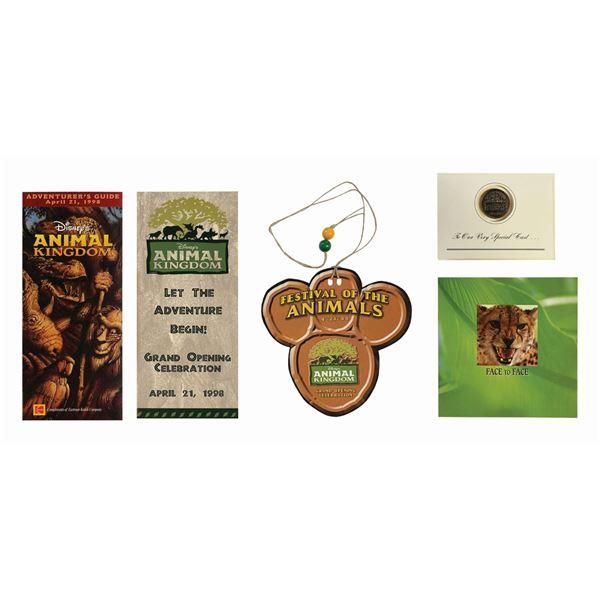 Set of (5) Animal Kingdom Grand Opening Items.