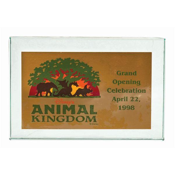 Animal Kingdom Grand Opening VIP Paperweight.
