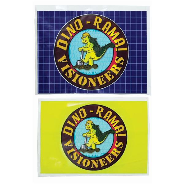 Pair of Dino-Rama! Visioneers Construction Decals.