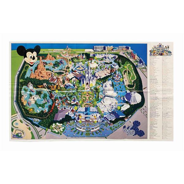 1992 Tokyo Disneyland Souvenir Map.
