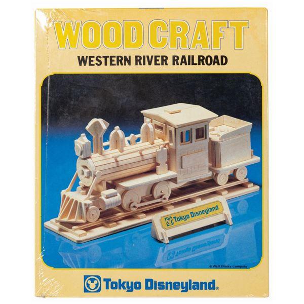 Tokyo Disneyland Western Railroad Wood Craft Kit.