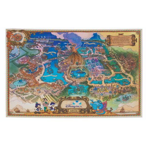 Tokyo DisneySea Grand Opening Map.