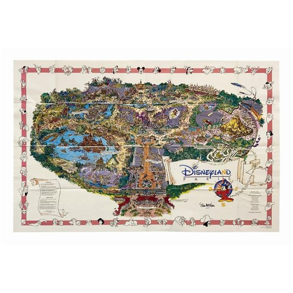 1994 Sam McKim Signed Disneyland Paris Map.