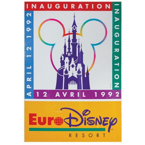 Euro Disneyland Inauguration Decal.