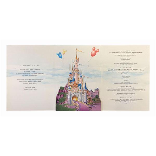 Euro Disneyland Grand Opening Invitation.