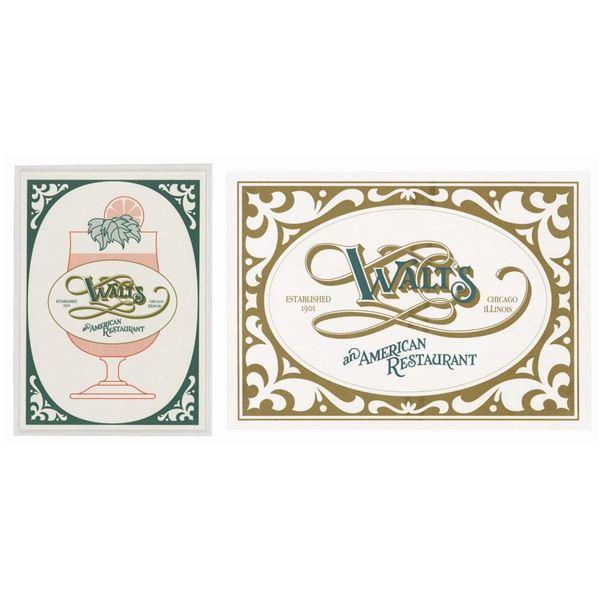 Pair of Euro Disneyland Walt's Restaurant Menus.
