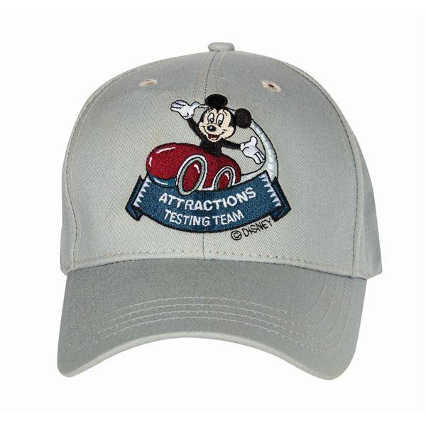 Hong Kong Disneyland Attractions Testing Team Ball Cap.