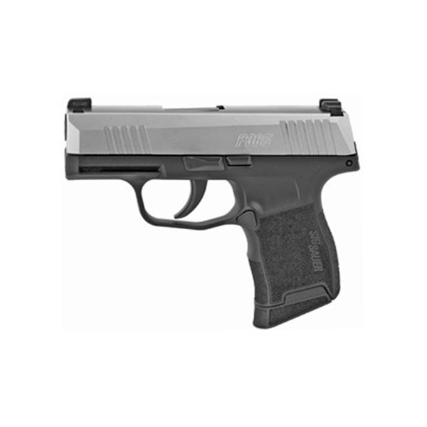 """SIG P365 9MM 3.1"""" 10RD BLK/STS"""