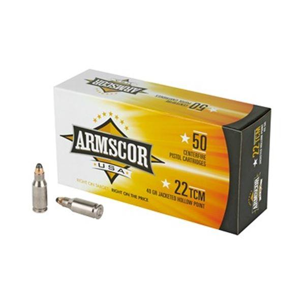 ARMSCOR 22TCM 40GR JHP - 50 RDS