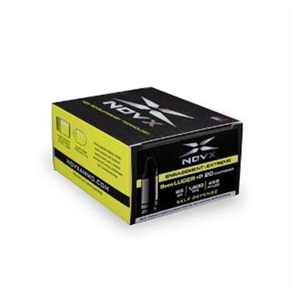 NOVX AMMO 9MM LUGER+P 65GR ENGAGE EXTREM - 20 Rds