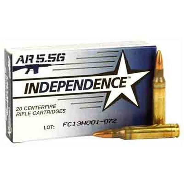 Independence XM193 5.56 NATO 55 Grain FMJ - 40 RDS