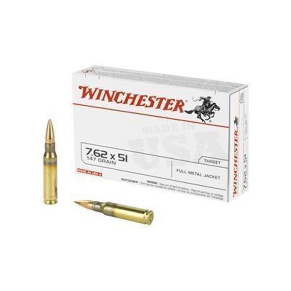 WIN USA 762X51 147GR FMJ - 20 Rds