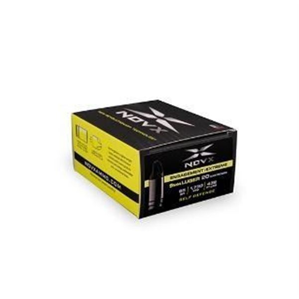 NOVX AMMO 9MM LUGER 65GR ENGAGE EXTREME 20 RDS
