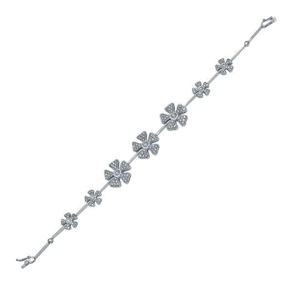 Natural 1.68 CTW Diamond & Bracelet 14K White Gold - REF-179K3R