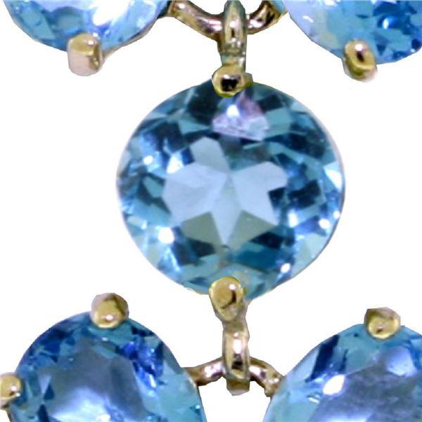 Genuine 20.7 ctw Blue Topaz Bracelet 14KT White Gold - REF-141X6M
