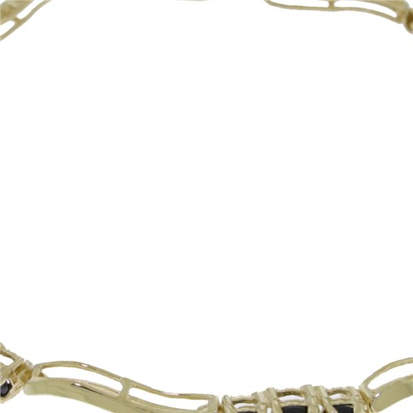 Genuine 1.76 ctw Sapphire & Diamond Bracelet 14KT White Gold - REF-81N7R