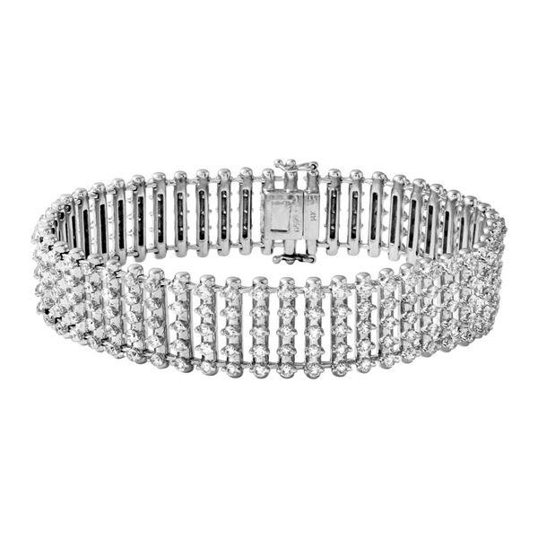 Natural 6.98 CTW Diamond Bracelet 14K White Gold - REF-687X6T