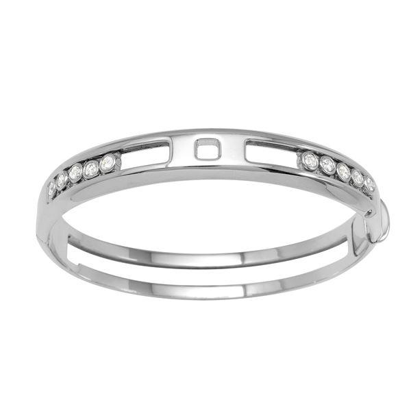 Natural 1.26 CTW Diamond & Bracelet 14K White Gold - REF-338M4F