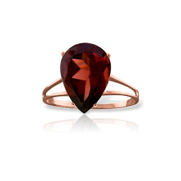 Genuine 5 ctw Garnet Ring 14KT Rose Gold - REF-42K9V