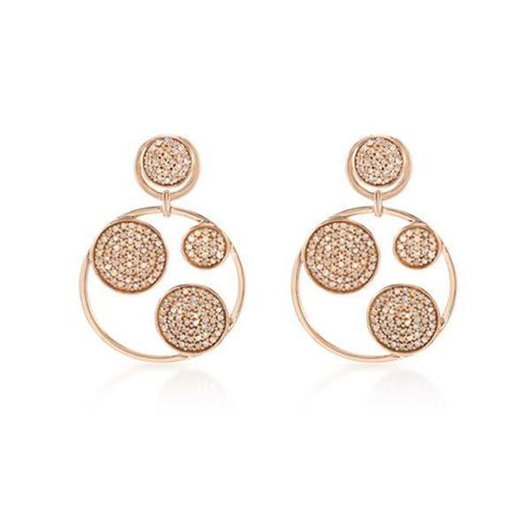 Natural 1.09 CTW Diamond Earrings 14K Rose Gold - REF-93Y6N