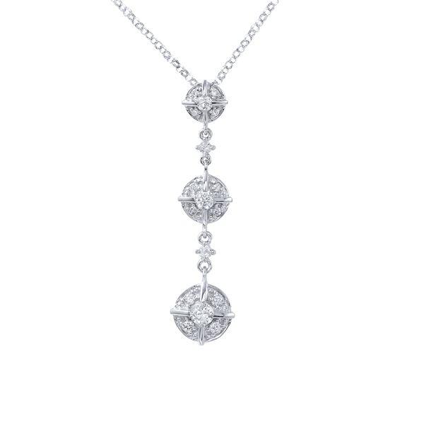 Natural 0.39 CTW Diamond Necklace 14K White Gold - REF-44R3K