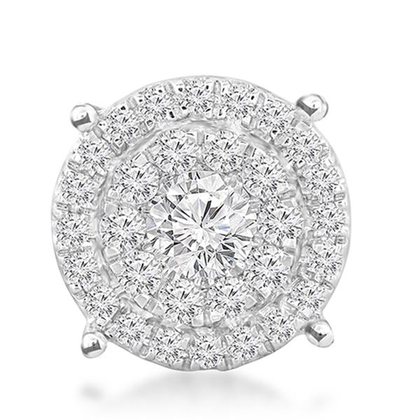 Natural 0.86 CTW Diamond & Head 14K White Gold - REF-101X7T