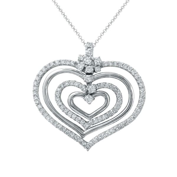 Natural 1.47 CTW Diamond Necklace 14K White Gold - REF-167Y4N