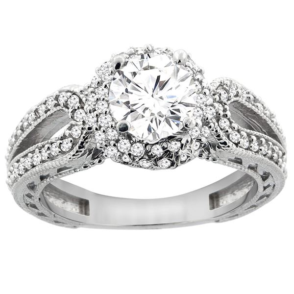 1.24 CTW Diamond Ring 14K White Gold - REF-238A7X