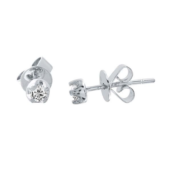 Natural 0.16 CTW Diamond Earrings 14K White Gold - REF-28Y8N