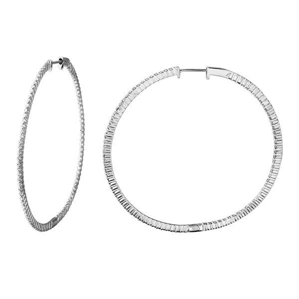 Natural 1.36 CTW Diamond Earrings 14K White Gold - REF-144H2W