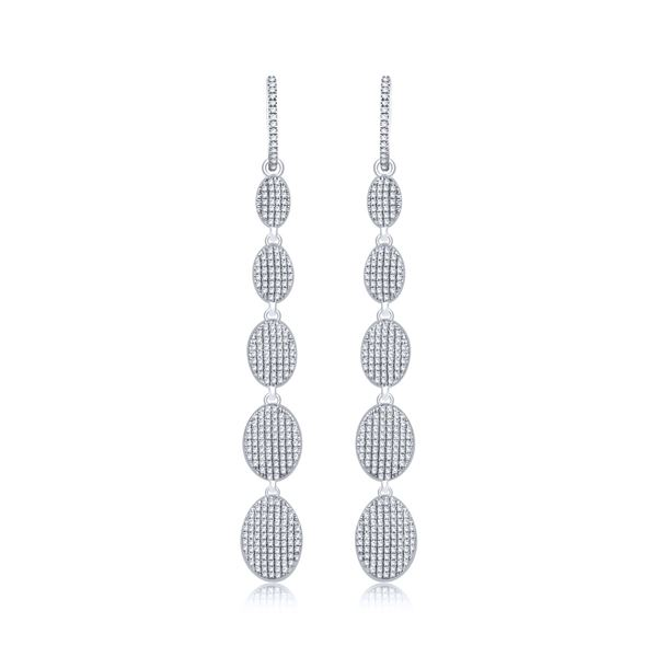 Natural 0.81 CTW Diamond Earrings 14K Rose Gold - REF-80X3T