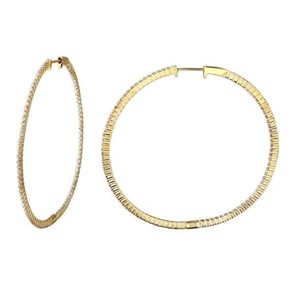 Natural 1.28 CTW Diamond Earrings 14K Yellow Gold - REF-144Y2N