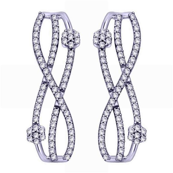 Natural 0.19 CTW Diamond Earrings 14K White Gold - REF-30Y6N