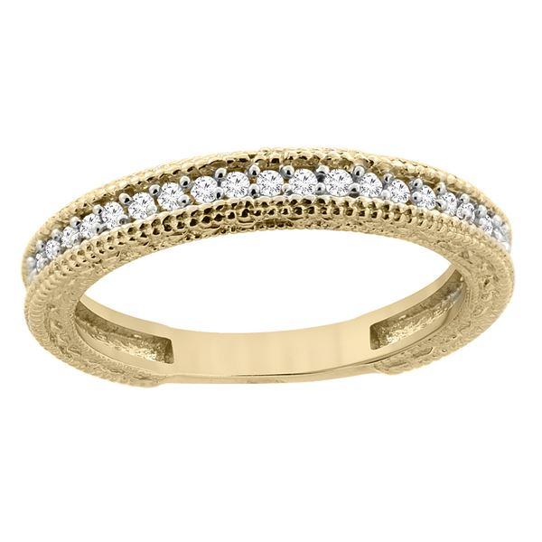0.15 CTW Diamond Ring 14K Yellow Gold - REF-41X3M