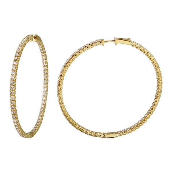 Natural 5.81 CTW Diamond Earrings 14K Yellow Gold - REF-535R5K