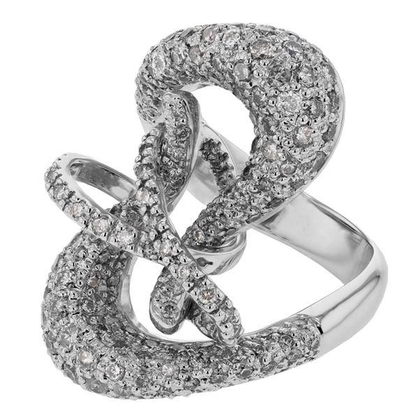 Natural 2.22 CTW Diamond Ring 14K White Gold - REF-198T9X
