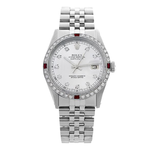 Rolex Pre-owned 36mm Mens White Stainless Steel