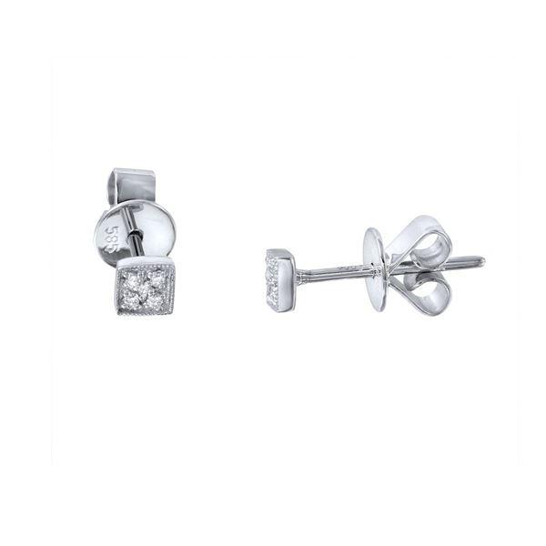 Natural 0.03 CTW Diamond Earrings 14K White Gold - REF-15T3X