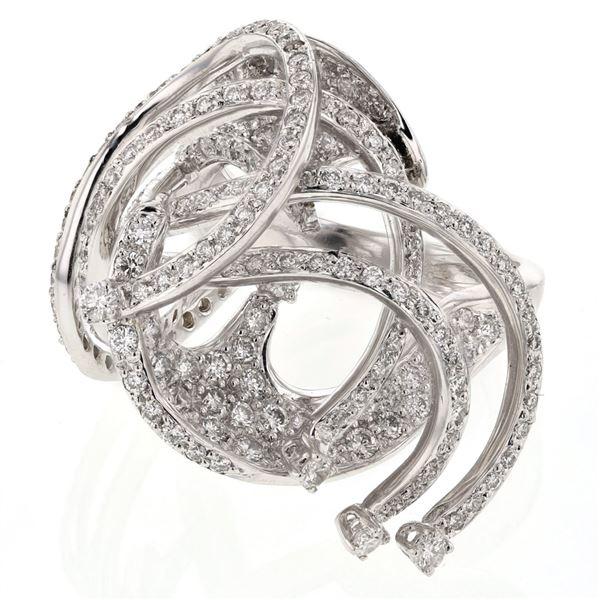 Natural 2.22 CTW Diamond Ring 18K White Gold - REF-331F2M