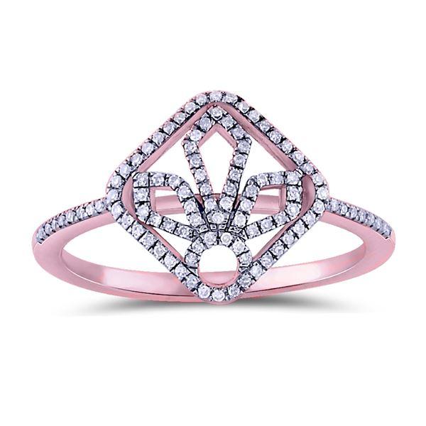 Natural 0.14 CTW Diamond Ring 14K Rose Gold - REF-22F5M