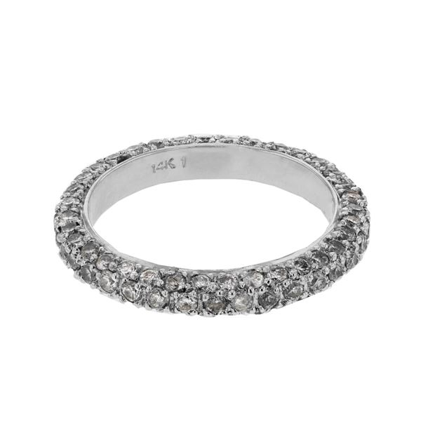 Natural 1.58 CTW Diamond Band Ring W=3MM 14K Gold - REF-106N2Y