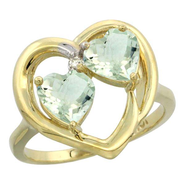 2.60 CTW Amethyst Ring 10K Yellow Gold - REF-23H7M