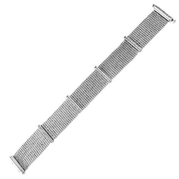 Natural 0.70 CTW Diamond & Bracelet 18K White Gold - REF-219K6R