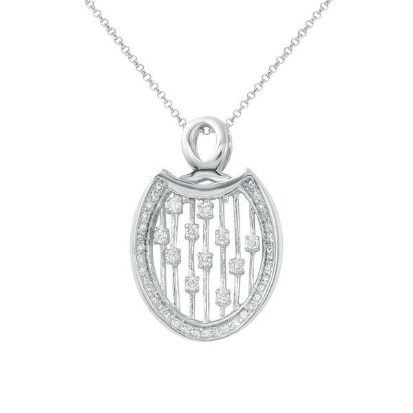 Natural 0.46 CTW Diamond Necklace 14K White Gold - REF-57T6X