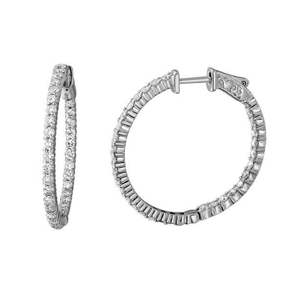 Natural 2.24 CTW Diamond Earrings 14K White Gold - REF-243K2R