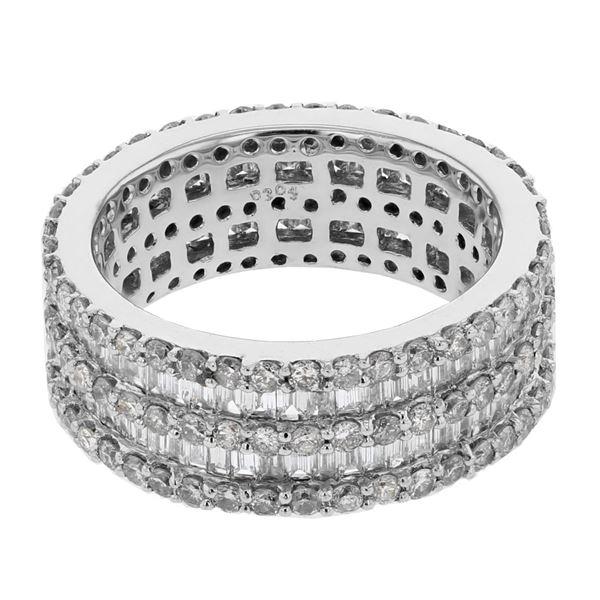 Natural 3.04 CTW Diamond & Baguette Ring W=7MM 14K Gold - REF-274N5Y