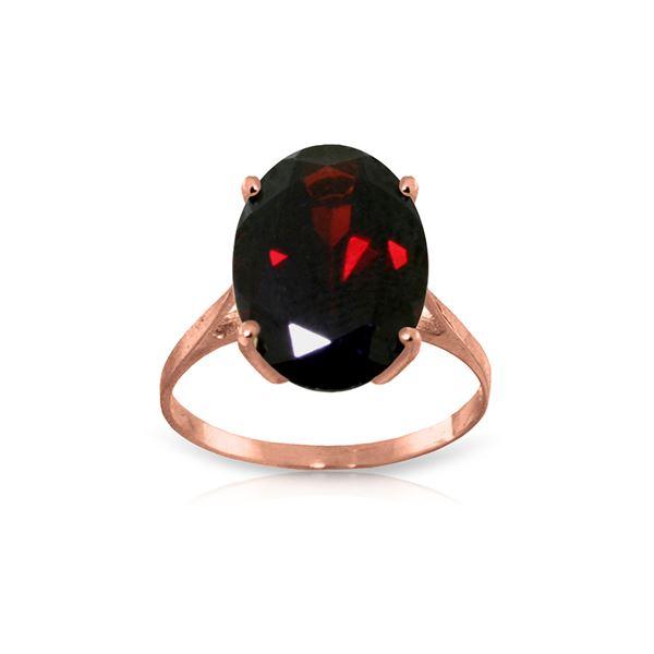Genuine 6 ctw Garnet Ring 14KT Rose Gold - REF-49H6X