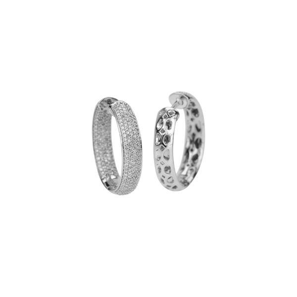 Natural 1.53 CTW Diamond Earrings W=5MM 14K Gold - REF-135K9R